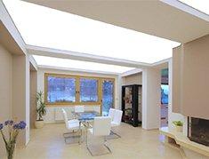 полный засвет натяжного потолка