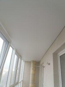 Матовый потолок на балконе по ул. Садовая 118